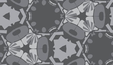 repeating: Repeating gray abstract shapes in repeating background pattern