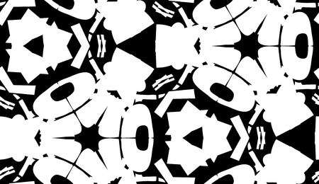 repeating: Repeating abstract white shapes in repeating wallpaper background pattern