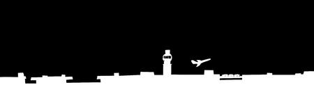 비행기의 블랙 silhoutte입니다 배경 이륙