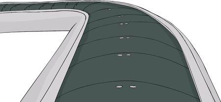Single conveyor belt illustration on white background