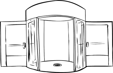 revolving: Outline of entrance with missing revolving door