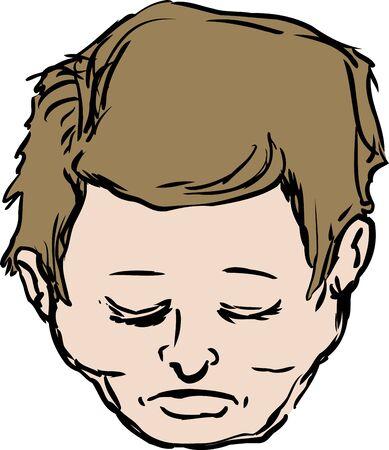 'eyes shut: Male with eyes shut