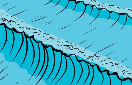 ocean waves: Tall ocean waves as sketched background illustration