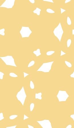 odd: Seamless pattern of odd abstract white shapes over light brown