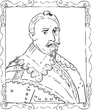 adolf: Outline sketch of Gustav II Adolf was the king of Sweden from 1611 to 1632
