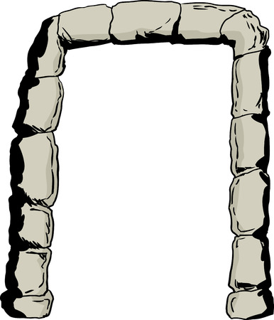 portal: Stones in shape of an arch as portal or doorway illustration