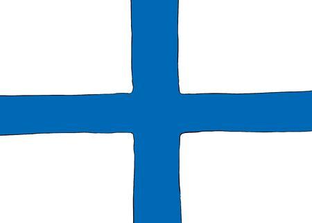 フィンランドを怒らせるノルディッククロスフラグの対称中心バージョン