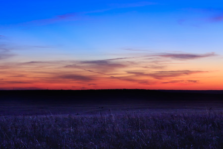 Sunrise at the Tallgrass Prairie Preserve located in Pawhuska, Oklahoma Stock fotó - 95486575