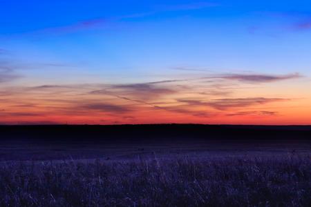 Wschód słońca w rezerwacie Tallgrass Prairie Preserve w Pawhuska w stanie Oklahoma