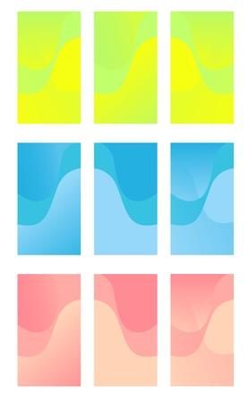 Ensemble d'arrière-plans colorés pour smartphone. Thèmes d'affichage modernes. Conception de modèle pour l'application mobile.