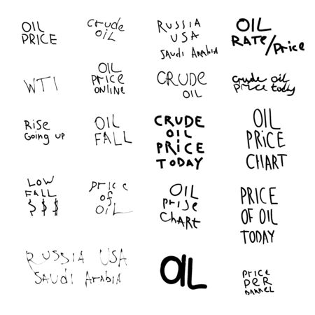 handwritten text on the subject of oil prices.