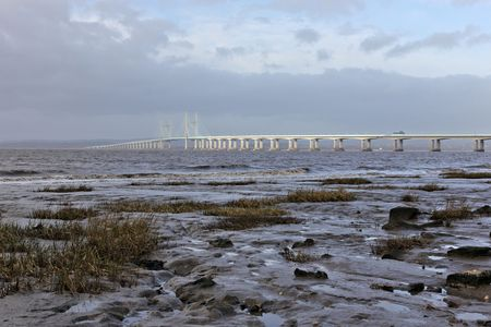 severn: Second Severn Crossing Stock Photo