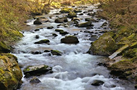 fast flowing river Stock Photo - 39083349