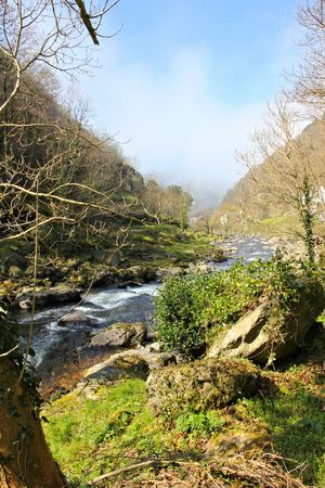 lynmouth: river Stock Photo