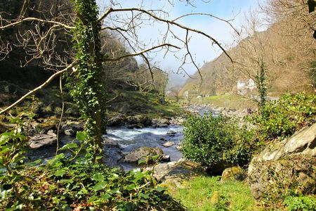 lynmouth: beautiful river Stock Photo