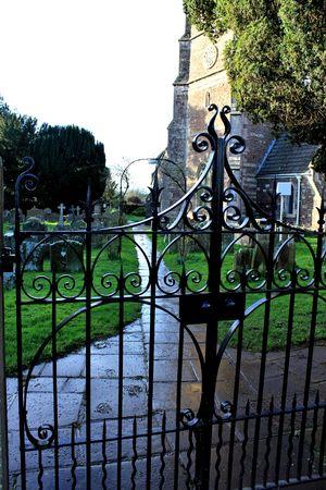 churchyard: churchyard gate Stock Photo