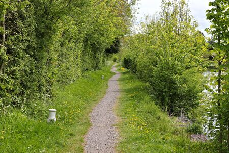 sharpness: tow path Stock Photo