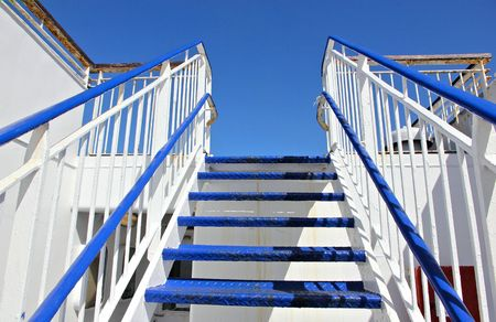 hand rails: ship stairway