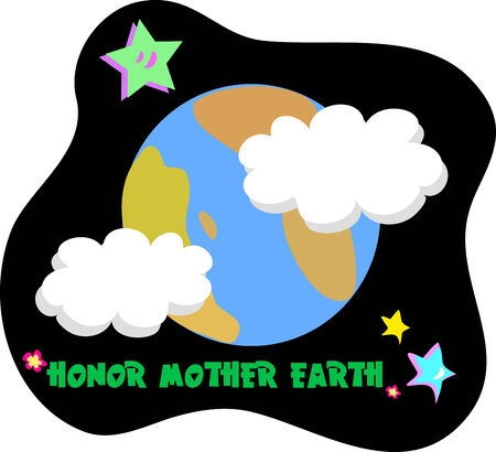 mother earth: Honor Mother Earth Illustration
