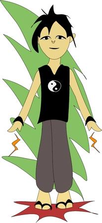chi: Chi Kung Fu Vectores