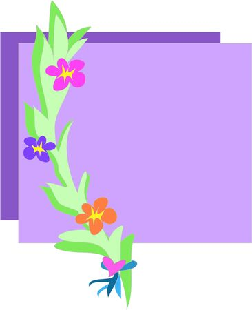 2 Boxes with Flower Branch Vector