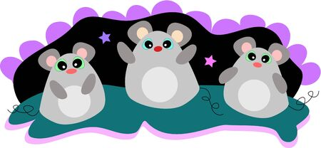 Three Friendship Mice