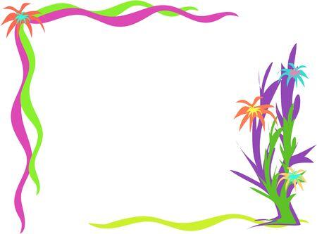 Corner Frame of Desert Flowers Imagens - 4149560