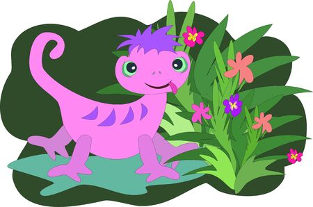 Gecko Forest Vector