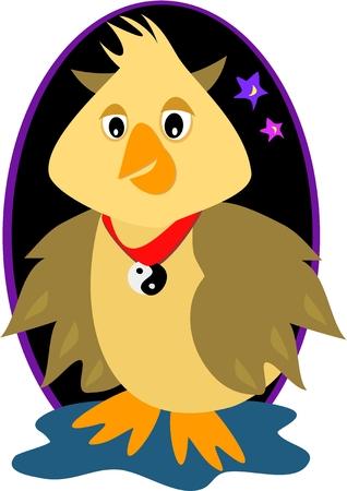 Yin Yang the Wisdom Owl Zdjęcie Seryjne - 4456004