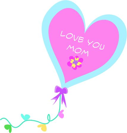Love You Mom Decorative Balloon