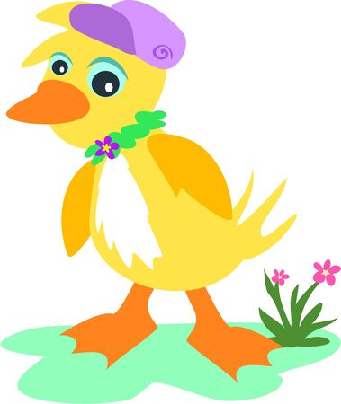Hip Hop Duck Illustration
