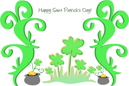 St. Patrick�s Day Pots of Gold Stock Vector - 4503935