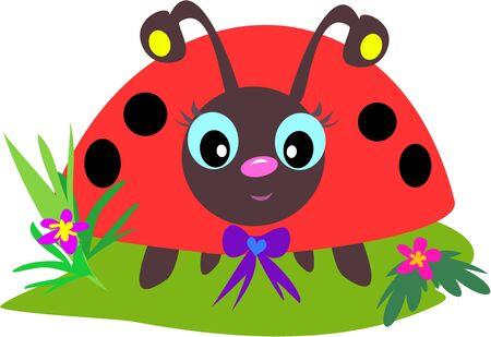 Ladybug Eyes Stock Vector - 4503885