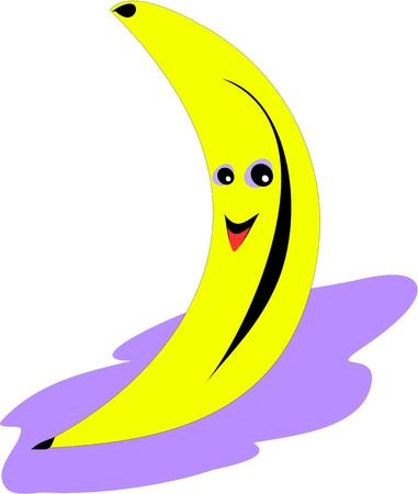 Banana on Purple Mat