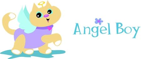 Angel Boy Cat