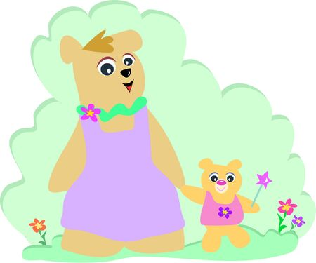 Moeder en kind beer