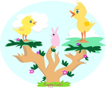 festive occasions: Easter Chicks and Rabbit Tree