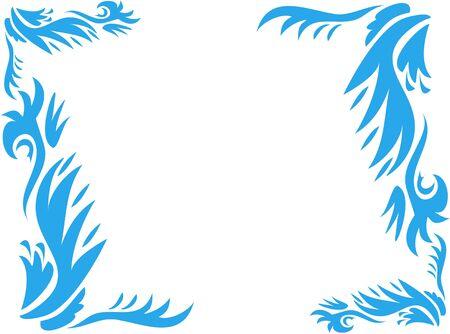 Marco de Negrita azul Plantas Ilustración de vector