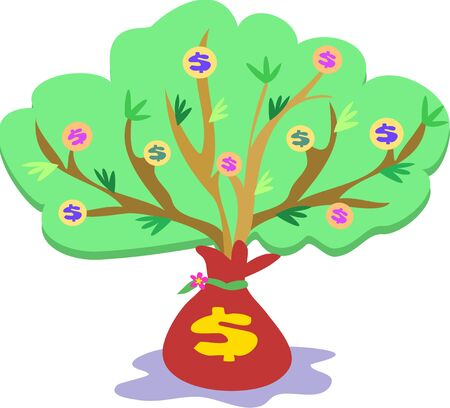 Money Tree Growth Vector