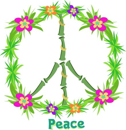 Tropische Peace Sign