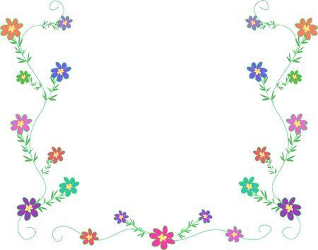petite: Frame of Petite Flowers Illustration