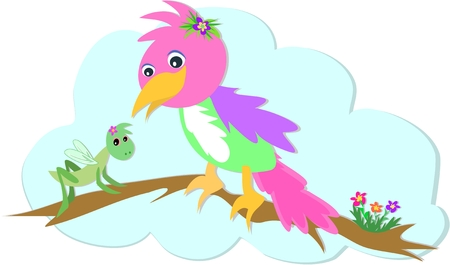 Grasshopper and Parrot Stock Vector - 4808398