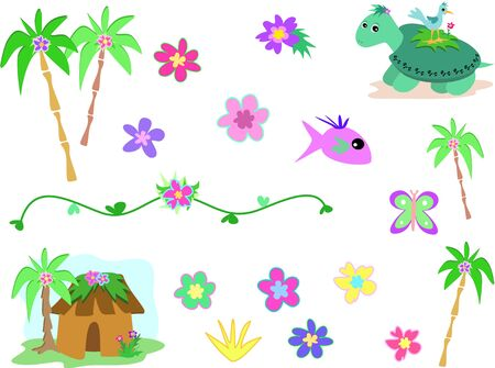Collection of the Tropics Vector