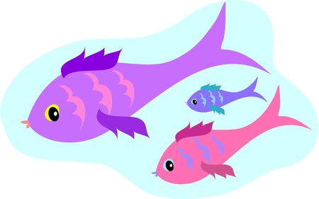 Three Bird Fish Stock Vector - 4871837