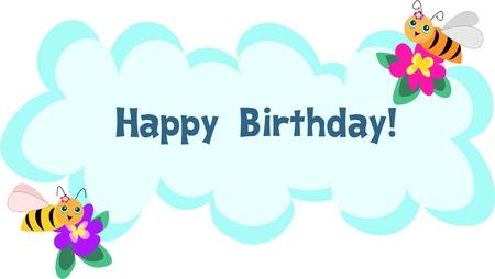 Ape frame di Happy Birthday Message  Archivio Fotografico - 4871848