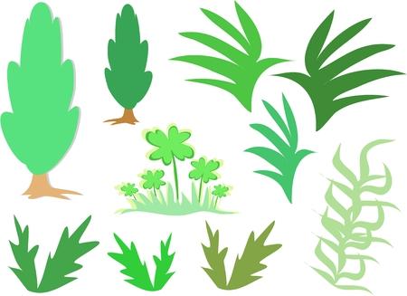 Mix Page of Greenery Çizim