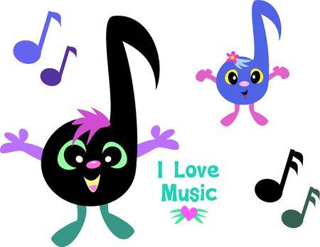 Page mix van muziek Notes Stock Illustratie