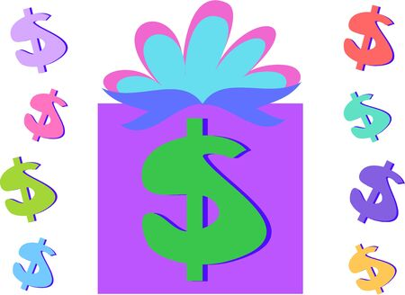 abundance: Money Gift and Dollar Signs