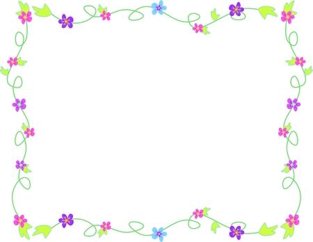 frame: Frame of Delicate Flowers and Frames