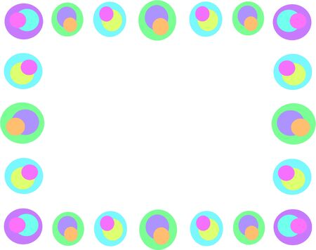 Frame of Retro Circles and Colors